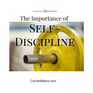 the importance of self-discipline for moms