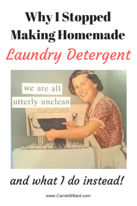 Homemade Laundry Detergent Doesn't Work