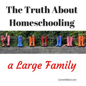 homeschooling a large family