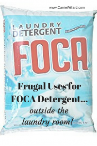 Frugal Uses for Foca Laundry Detergent - outside the laundry room