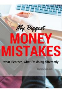 My Biggest Money Mistakes