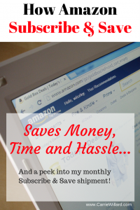 How Amazon Subscribe & Save Saves Me Money, Time & Hassle