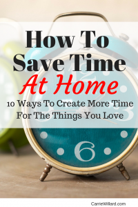 How To Save Time at Home