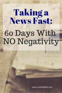 Taking a News Fast- 60 days with no negativity
